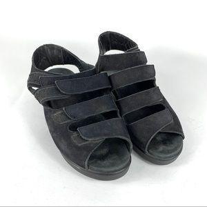 Wolky Womens Walking Comfort Sandals Black